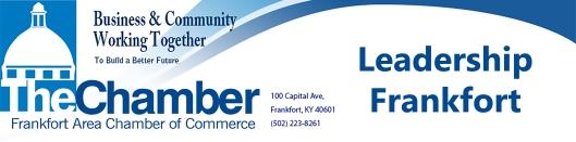 Chamber of Commerce Leadership Frankfort Logo Banner