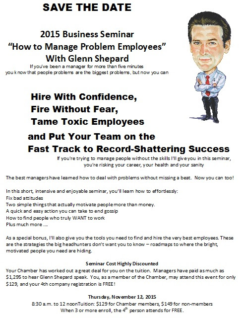 How to Manage Problem Employees with Glenn Shepherd - A 2015 Business Seminar - 11-12-15