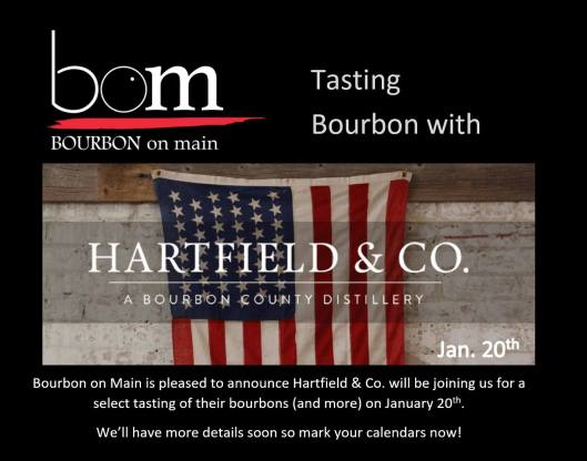 Bourbon Tasting with Hartfield & Company at BOM - 1-20-16
