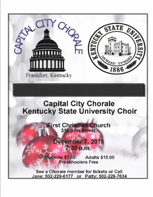 Capital City Corale & KSU Choir at First Christian Church - 12-7-15