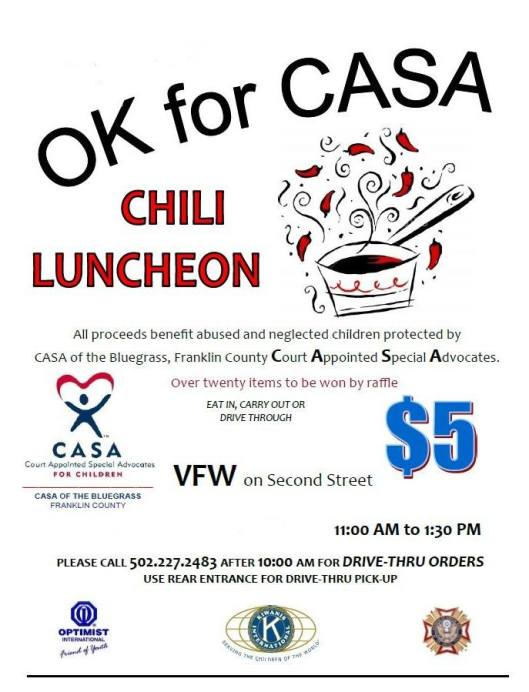 CASA Chili Luncheon - 11-13-15