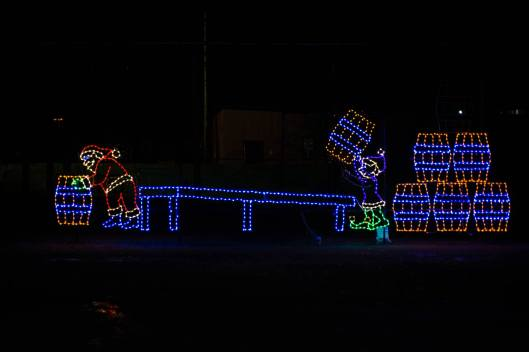 Buffalo Trace Light Display