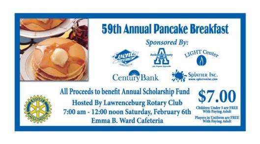 59th Annual Pancake Breakfast - 2-6-16