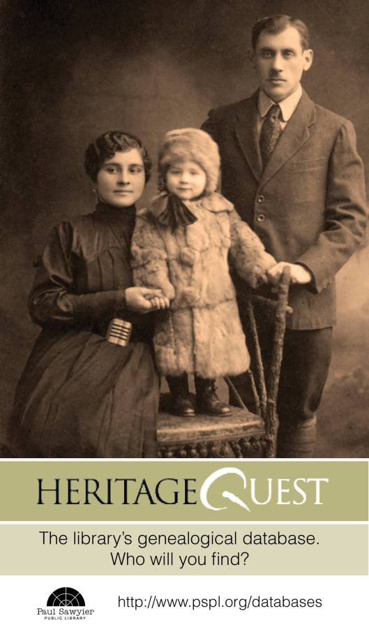 HeritageQuest - Finding Your Ancestors Online at the Paul Sawyier Public Library - 1-26-16