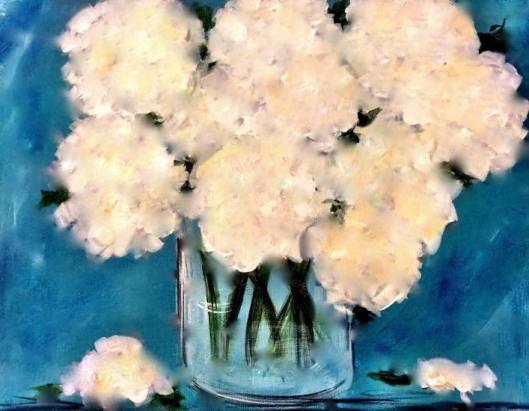 Hydrangea Paint Party at Duncan Designs Art Studio - 2-27-16