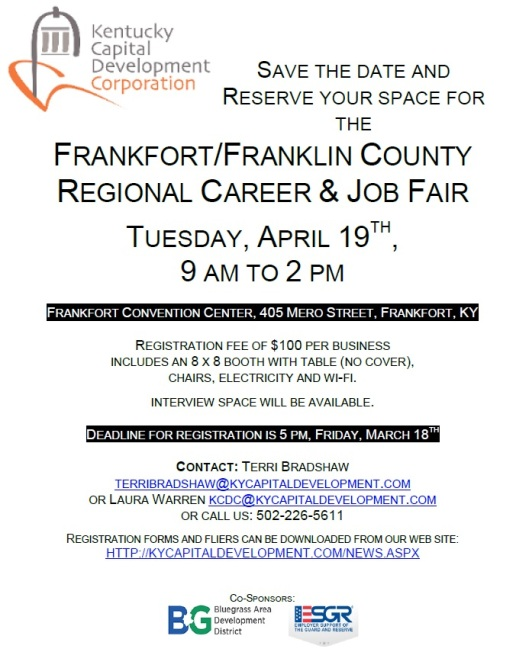 Job Fair at the Frankfort Convention Center - 4-19-16
