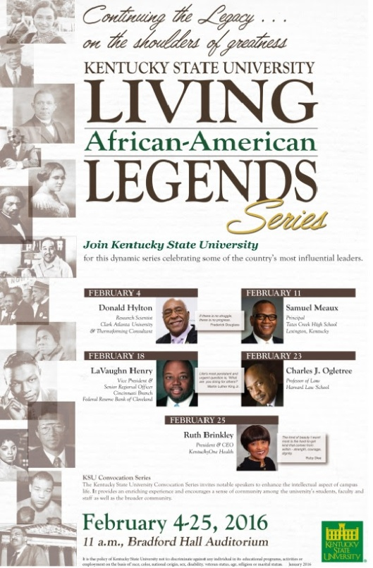 Living Legends African-American Series - Feb 2016