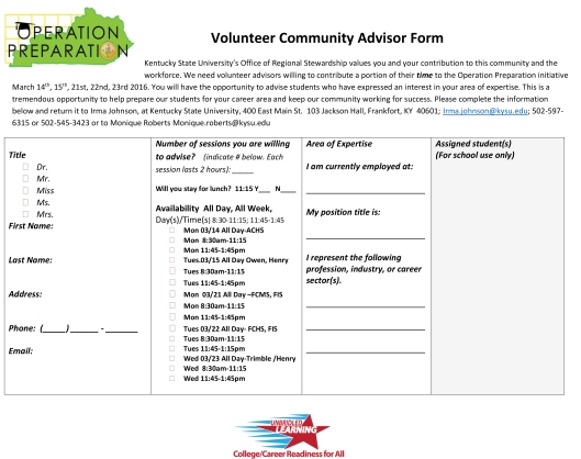 OP 2016 Volunteer Community Advisor Form