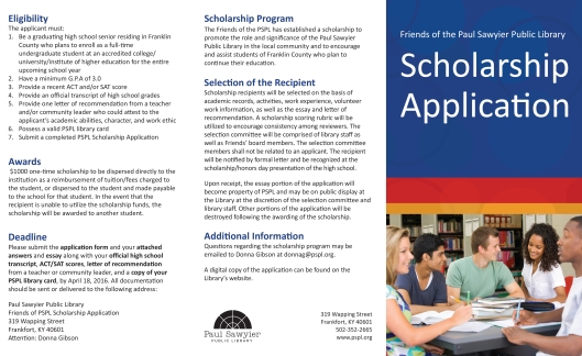 PSPL Scholarship Application Brochure - Feb2016-1