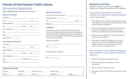 PSPL Scholarship Application Brochure - Feb2016-2