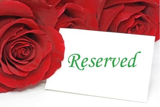 Reserved with Roses