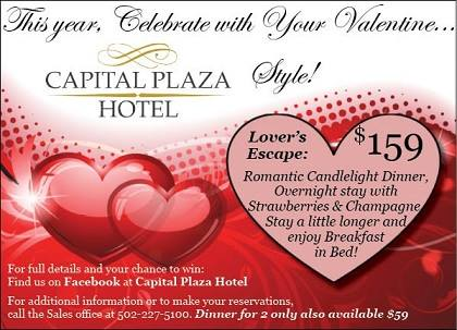 Valentine's Lovers Escape at the Capital Plaza Hotel - 2-13-16