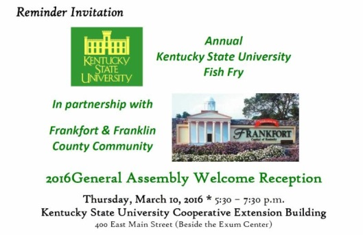 2016 General Assembly Welcome Reception at KSU - 3-10-16