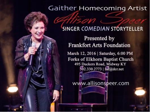 Allison Speer at Forks of Elkhorn Baptist Church - 3-12-16