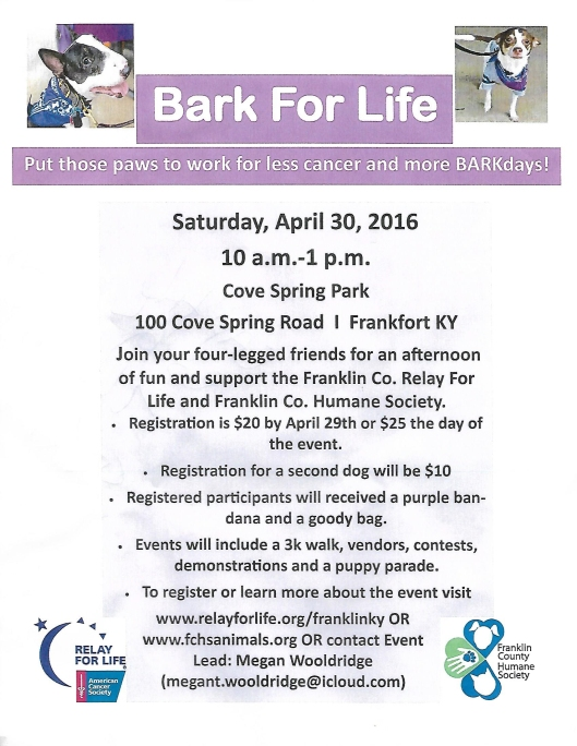 Bark for Life Flyer - 4-30-16