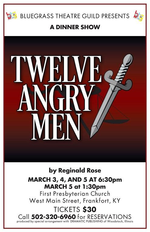 Bluegrass Theater Presents Twelve Angry Men Dinner Theatre - 3-456-16