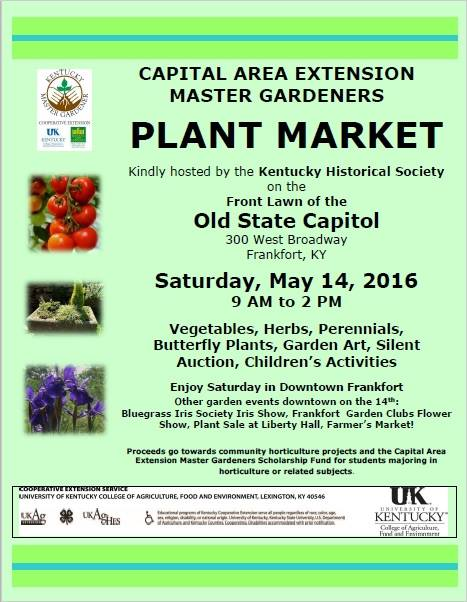 Plant Market on the Old Capitol Lawn - 5-14-16