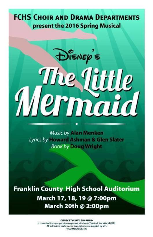 The Little Mermaid Musical at FCHS - Mar17-20
