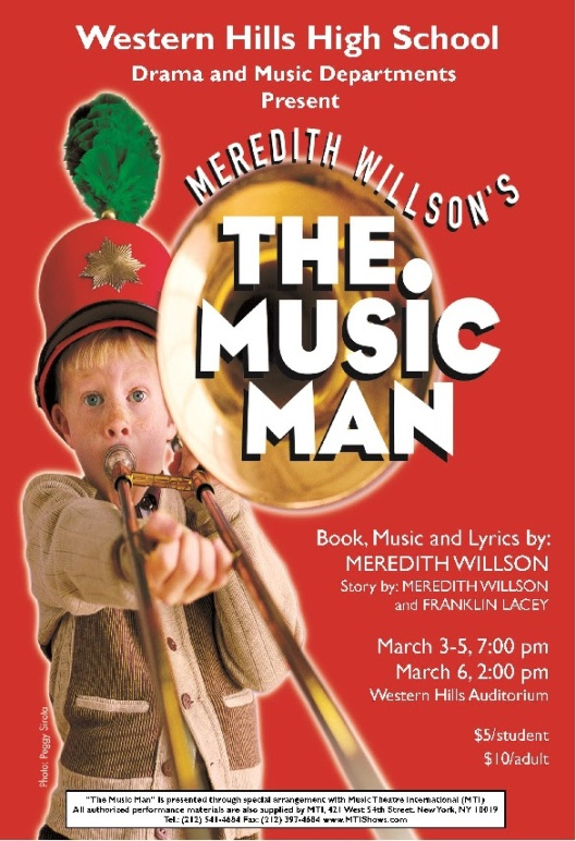 The Music Man at Western Hills HIgh School - Mar 3-6