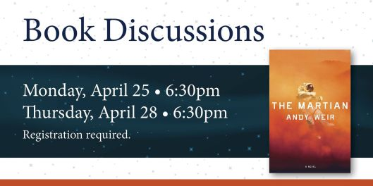 Book Discussion - The Martian - 4-25-16