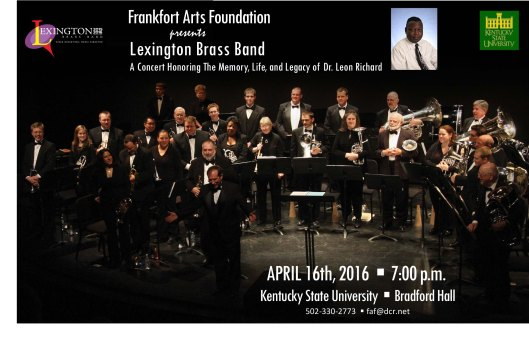 Frankfort Arts Foundation presents Lexington Brass Band at KSU - 4-16-16