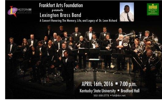 Frankfort Arts Foundation presents Lexington Brass Band at KSU - 4-16-16