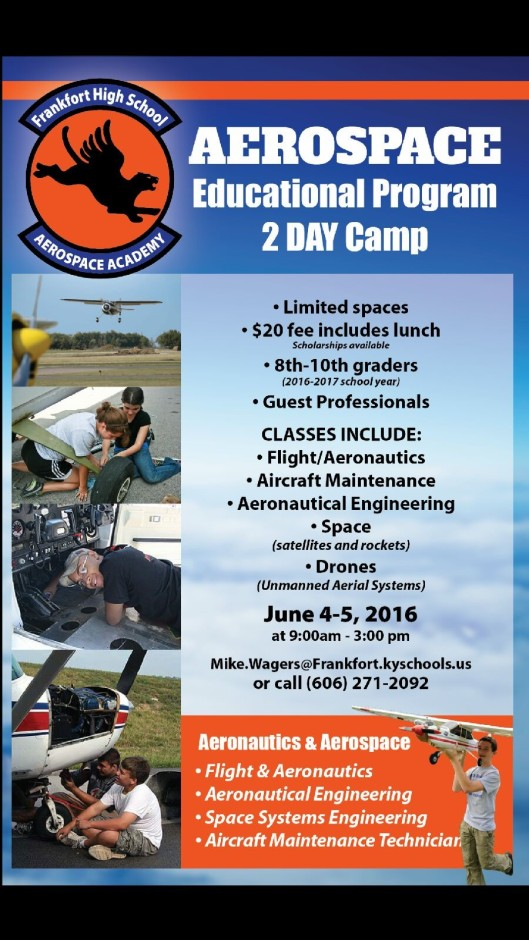 Frankfort High School Aerospace Camp - June 4 and June 5