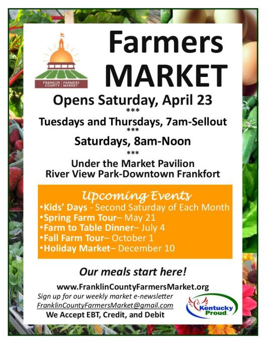 Franklin COunty Farmers market Opening - 4-23-16