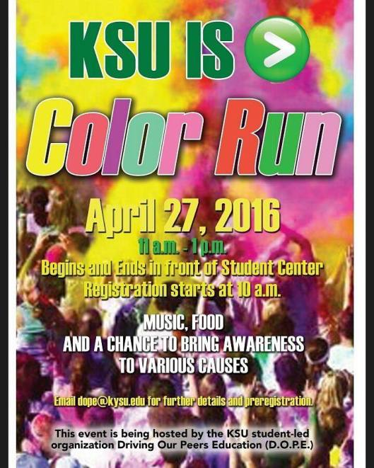 KSU Color Run - 4-27-16