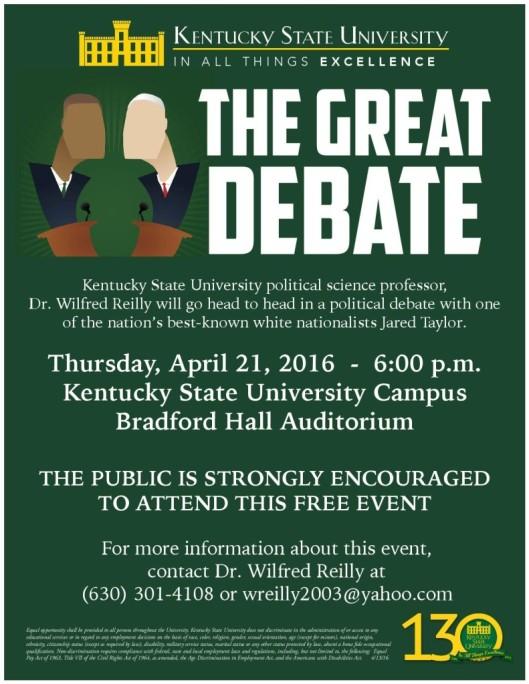 KSU Debate - 4-21-16
