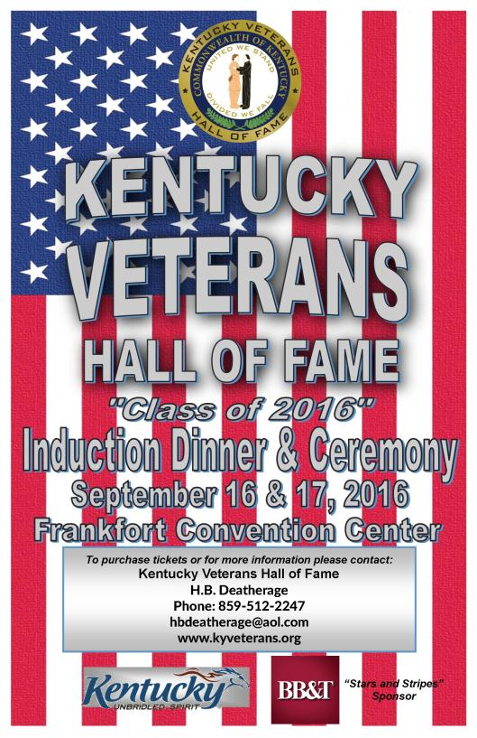 KY Veterans Hall of Fame Induction Event - 9-1617-16