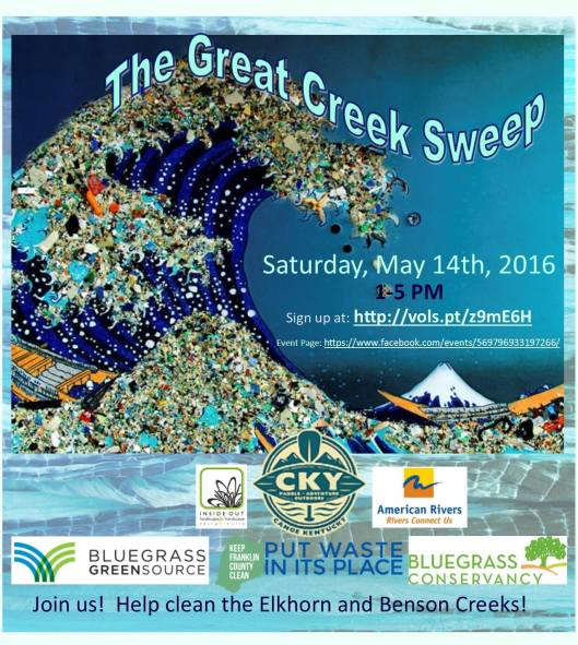 The Great Creek Sweep on Elkhorn Creek - 5-14-16