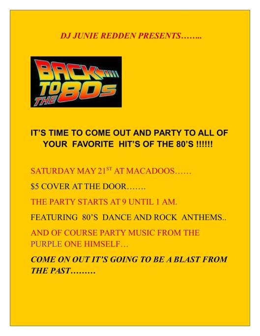 80s Dance Party At Macadoo's - 5-21-16