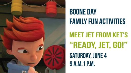 Boone Day Family Fun Activities at the KHS - 6-4-16