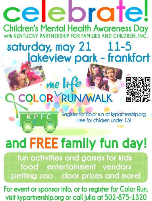 Children's Mental Health Awareness Day with Kentucky Partnership for Families and Children - 5-21-16