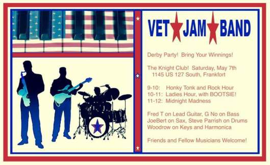 VET JAM Band at the Knight Club - 5-7-16
