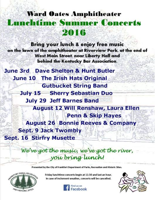 WOA Ward Oates Amphitheater Lunchtime Concert Series 2016
