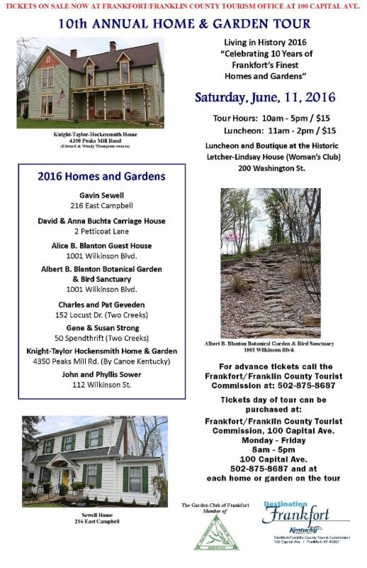 10th Annual Home & Garden Tour - 6-11-16