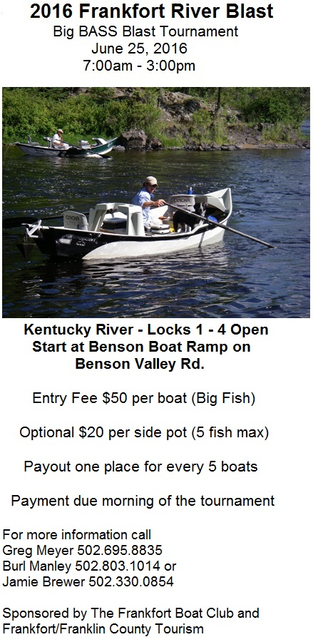 Bass Tournament Flyer for River Blast 2016