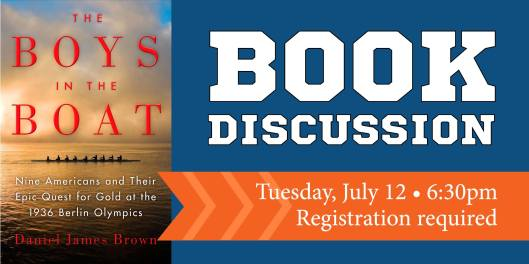 Book Discussion - The Boys in the Boat at the PSPL - 7-12-16