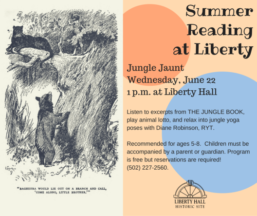 Summer Reading at Liberty Hall - The Jungle Book - 6-22-16