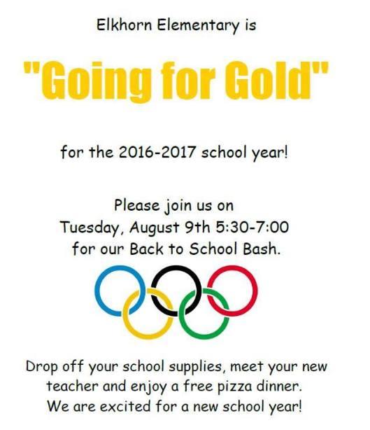 Back To School Bash at Elkhorn Elementary School - 8-9-16