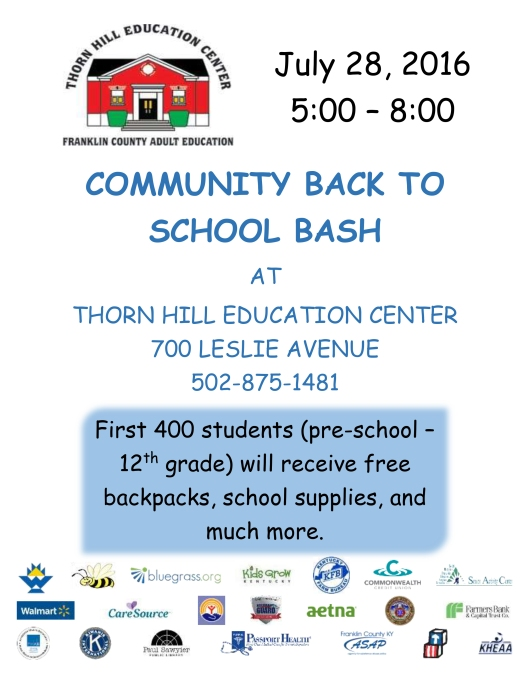 Back to School Bash at Thorn Hill Learning Center