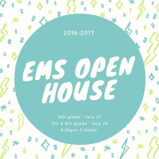 EMS Elkhorn Middle School Open House - July 2016