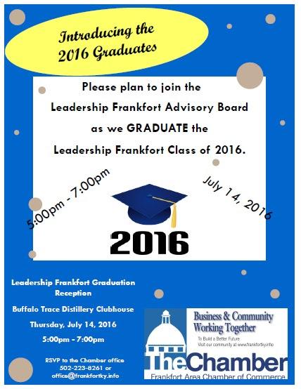 Leadership Frankfort Graduation & July Business After Hours - 7-14-16