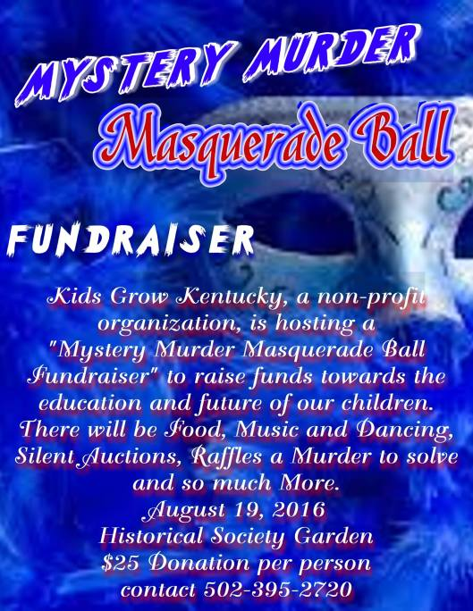 Murder Mystery Masquerade Ball Fundraiser at the Kentucky Historical Society KHS - 8-19-16