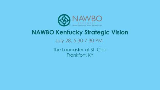 NAWBO Kentucky Strategic Vision at The Lancaster at St Clair - 7-28-16