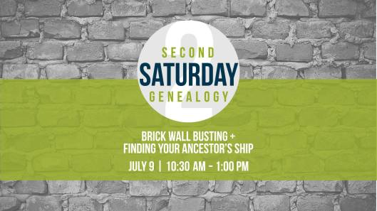 Second Saturday Genealogy - Brick Wall Busting And Finding Your Ancestor's Ship at the KHS - 7-9-16