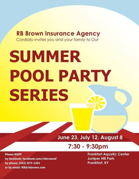 Summer Pool Party hosted by RB Brown Insurance at Juniper Hill Aquatic Center - 8-8-16