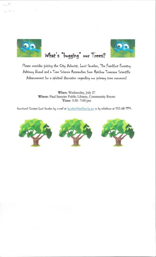 What's Bugging Our Trees at the Paul Sawyier Public Library - 7-27-16